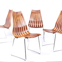 Mid Century Dining Chairs by Hans Brattrud