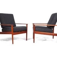Pair of Teak PJ56 Armchairs by Grete Jalk  c1960