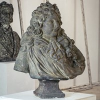 Imposing Louis XIV Carved Stone Bust