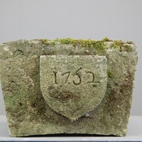 Carved 18th Century Limestone Keystone