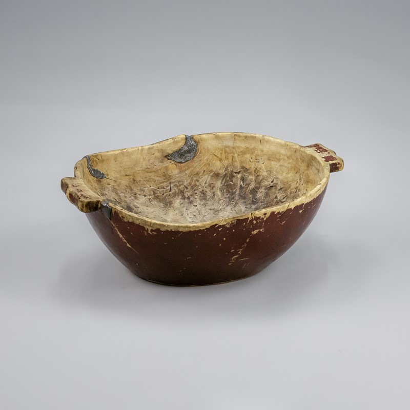 Large Swedish Dugout Root or Knot Bowl Dated 1811-the-home-bothy-large-red-root-bowl-2238-2-main-637368877384862318.jpg