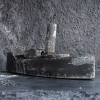 Scratch built zinc ship model