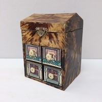 Tortoise shell veneer covered box
