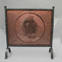 Copper and iron fire screen