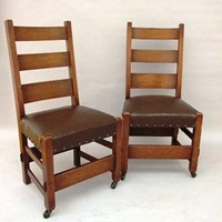 A pair of American Arts & Crafts side chairs