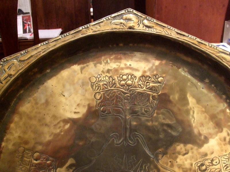 A Keswick brass repoussé octagonal charger-the-millinery-works-s3134-detail-main-636901795069338482.JPG