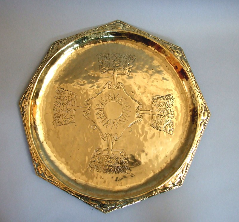 A Keswick brass repoussé octagonal charger-the-millinery-works-s3134-main-636901794889491702.JPG