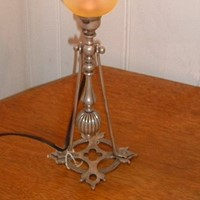 A silver plated Arts & Crafts table lamp