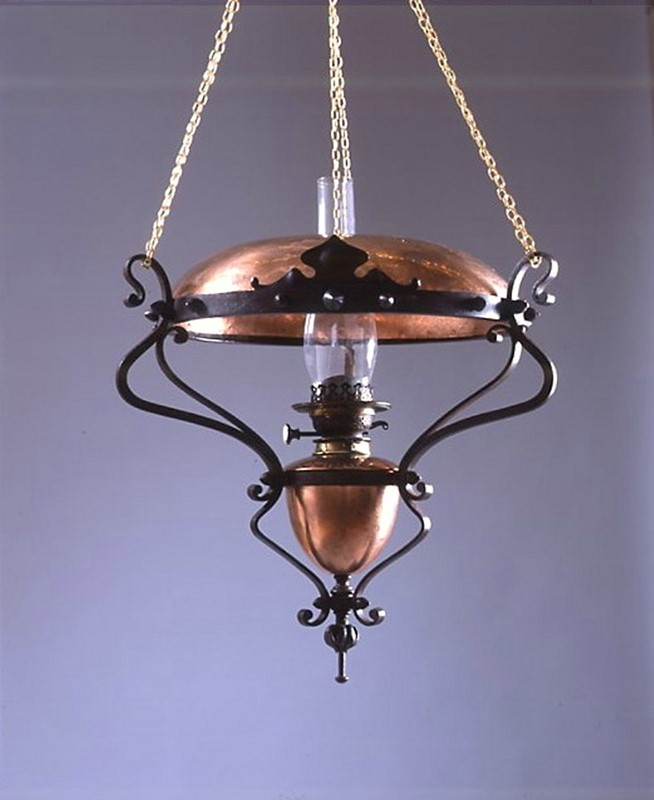 An Arts & Crafts steel hanging lamp           -the-millinery-works-s3808hangingoilamp-main-637052897410919854.jpg