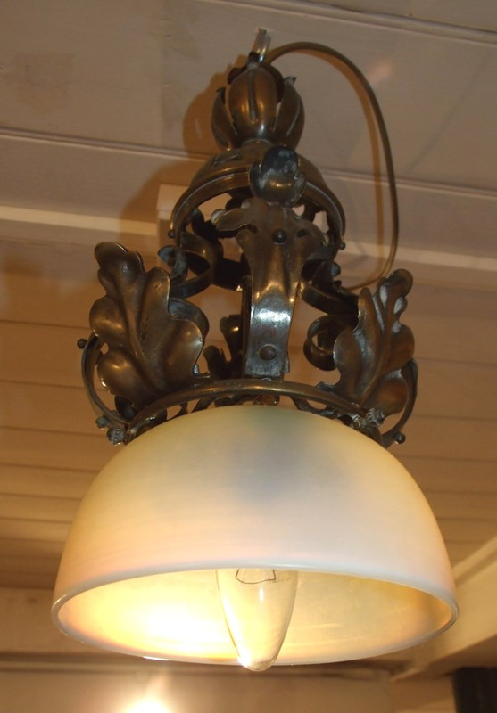 Brass & vaseline glass shaded hanging light-the-millinery-works-s4857-main-637052926212610795.JPG