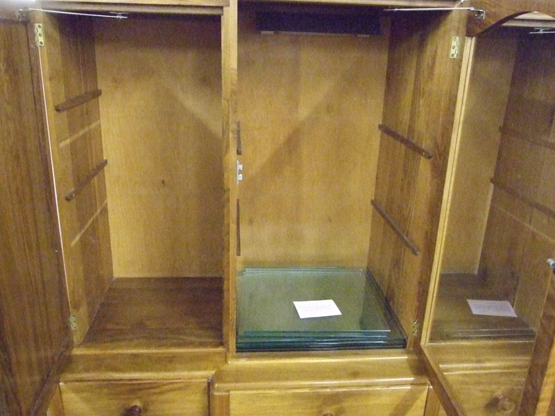 A walnut Cotswold breakfront cabinet on stand-the-millinery-works-s5264-open-main-636898921592415176.JPG