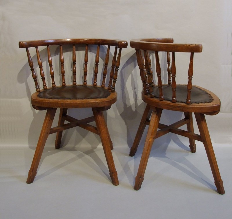 A set of four Romney Green oak Cotswold armchairs-the-millinery-works-s6353-main-636900681787455863.jpg