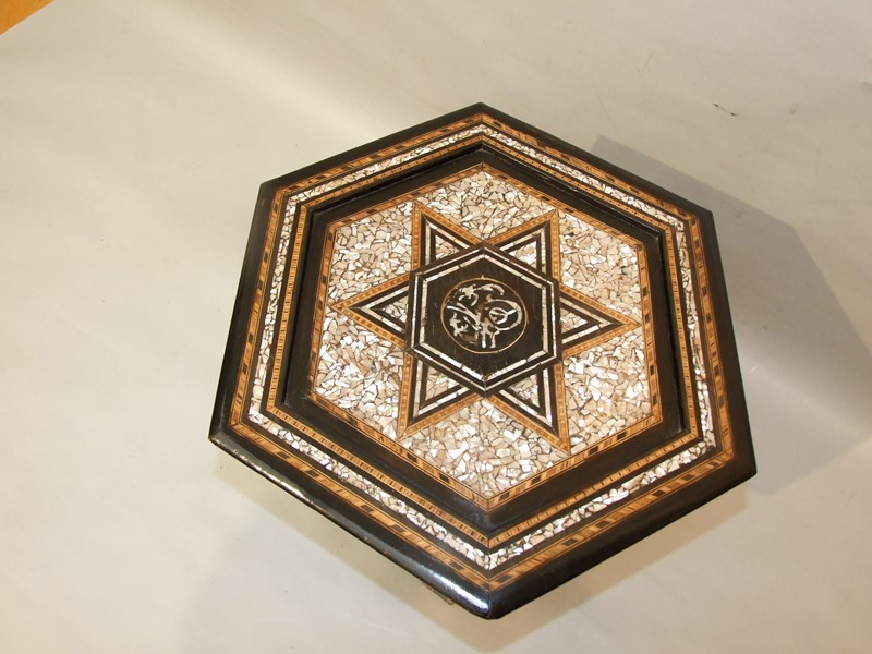 A Damascene hexagonal Moorish coffee table-the-millinery-works-s6847btop-main-636890390297436980.JPG