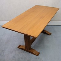 A 1930s limed ohiak dining table