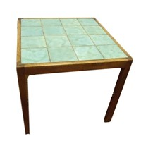 Attr to Heals, a green tile-top coffee table