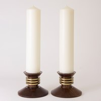 Art Deco Modernist Candlesticks by Prodhon 1930