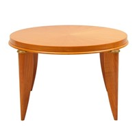French Art Deco Sycamore Table by Maurice Jallot