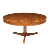 Midcentury Yew Drum Table by Robert Heritage