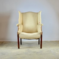 English Wing Chair, Full Reupholstery Inc.
