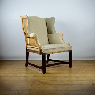 Small Wing Chair, Reupholstery Included