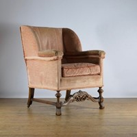 1920's walnut armchair inc re-upholstery
