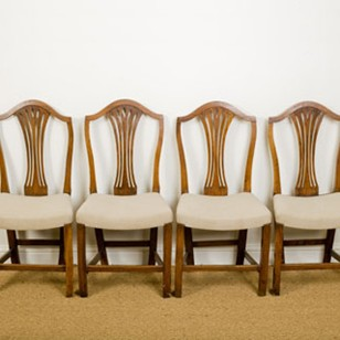 Set of four elm country chairs
