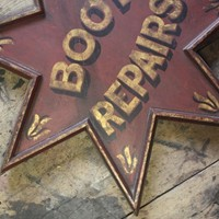 "Red Star Trade Sign ""Boot Repair"""