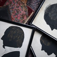 Trio of 19th C Life Size Silhouette Portraits