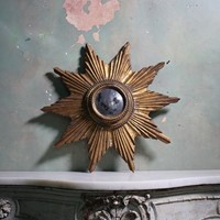 Early 20th Century, Sunburst Convex Mirror