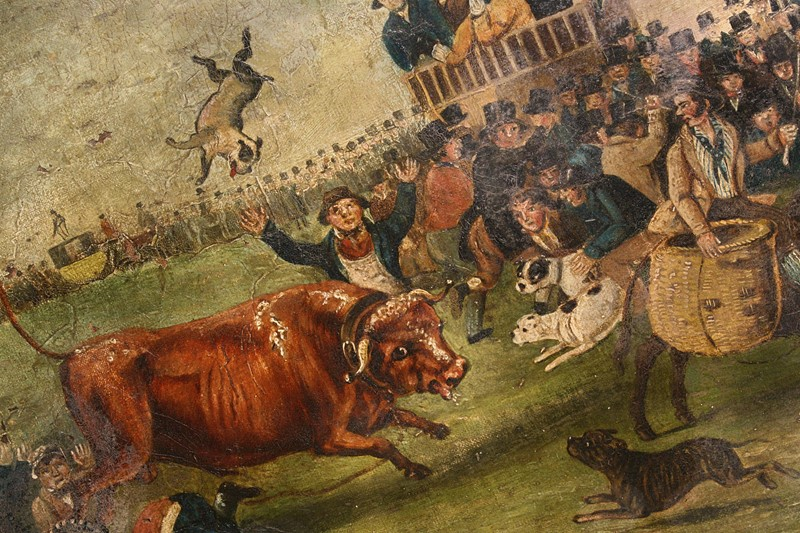 """Bull Broke Loose"", Bull Baiting Oil on Canvas -the-school-for-scandal-img-8648-fotor-main-636901700996041944.jpg"