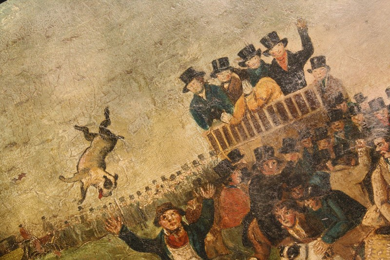 """Bull Broke Loose"", Bull Baiting Oil on Canvas -the-school-for-scandal-img-8657-fotor-main-636901702738367133.jpg"