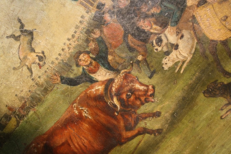 """Bull Broke Loose"", Bull Baiting Oil on Canvas -the-school-for-scandal-img-8662-fotor-main-636901702831377082.jpg"