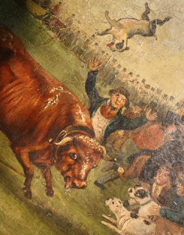 """Bull Broke Loose"", Bull Baiting Oil on Canvas -the-school-for-scandal-img-8662-fotors-main-636901702867002059.jpg"
