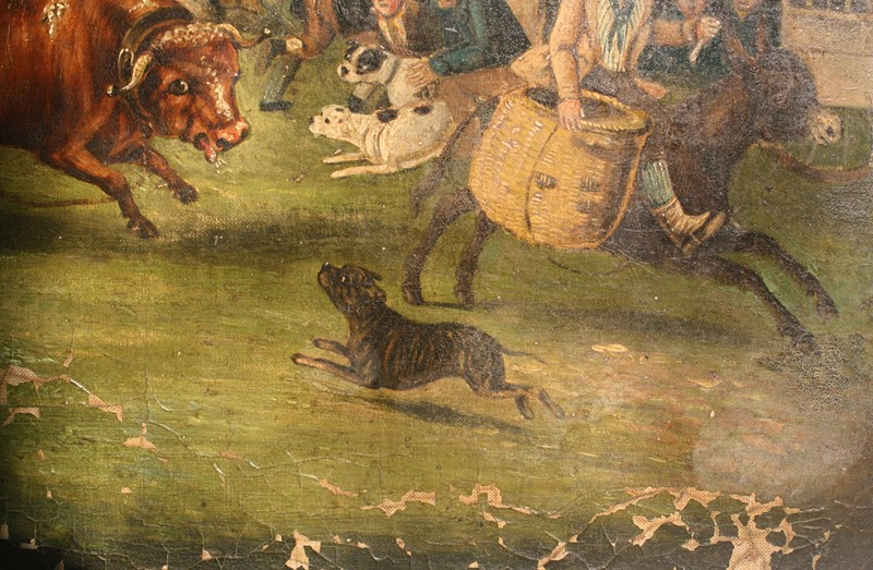 """Bull Broke Loose"", Bull Baiting Oil on Canvas -the-school-for-scandal-img-8673-fotor-main-636901703475766385.jpg"