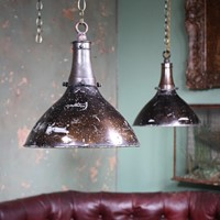 Pair of Holophane Industrial Glass Lights