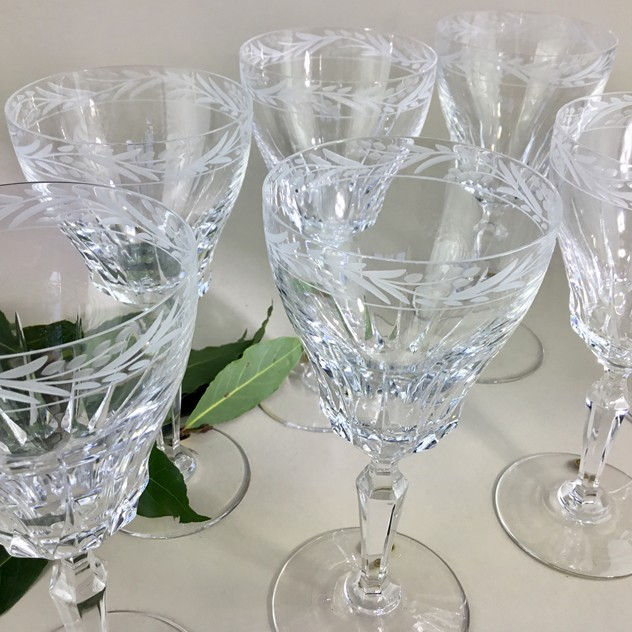 14 finest crystal wine goblets by Val St Lambert-the-vintage-entertainer-610F7B6F-E80E-4D0B-BB14-3E3A1C687EBB_main_636539605237340246.jpeg