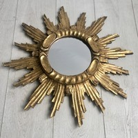 Vintage french giltwood sunburst mirror