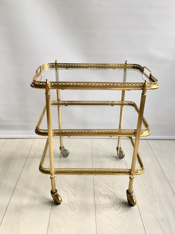 Vintage French brass drinks trolley bar cart-the-vintage-trader-IMG_2178-main-636766630601655220.jpg