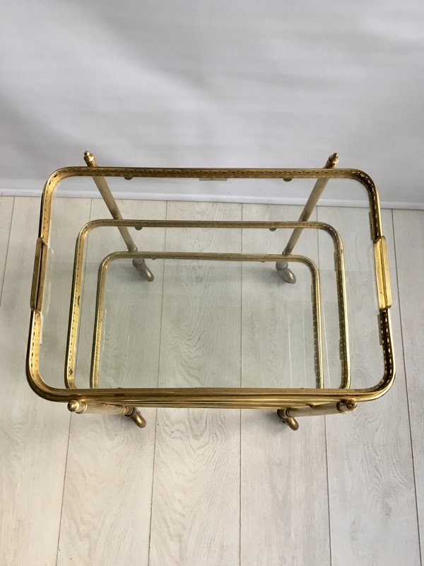 Vintage French brass drinks trolley bar cart-the-vintage-trader-IMG_2180-main-636766630625560992.jpg