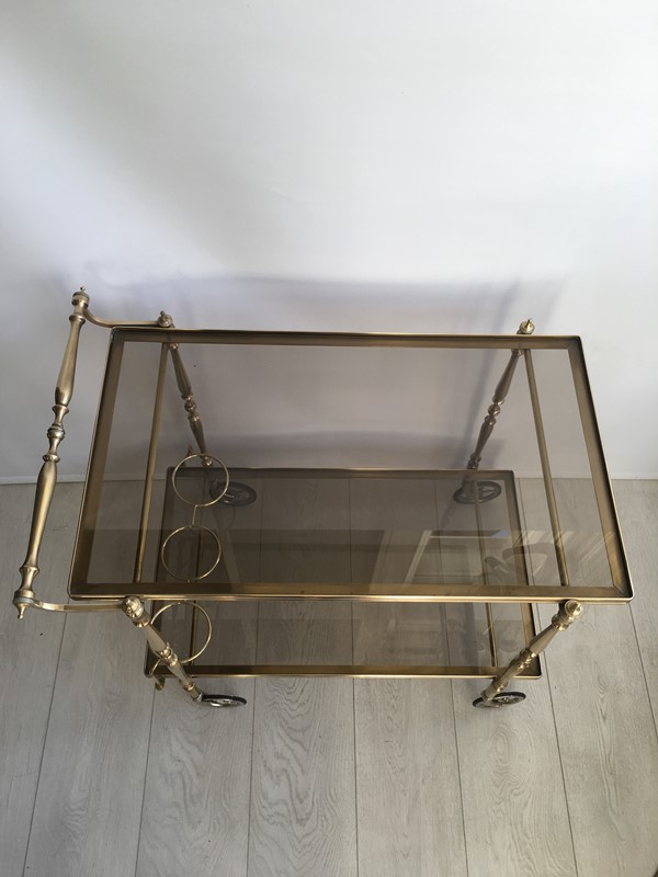 Vintage French brass drinks trolley bar cart-the-vintage-trader-img-3393-main-636832412286700513.JPG