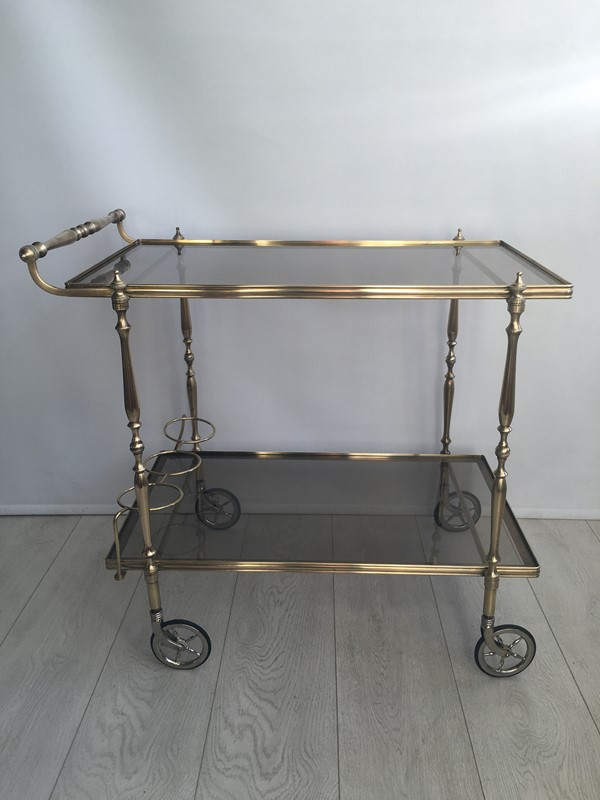 Vintage French brass drinks trolley bar cart-the-vintage-trader-img-3395-main-636832412336701052.JPG