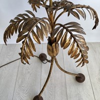 Unusual gilt metal palm lamp light