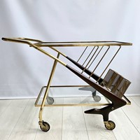 Caesar Lacca  midcentury drinks trolley bar cart