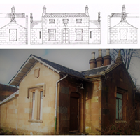 Dismantled Scottish Sandstone Cottage