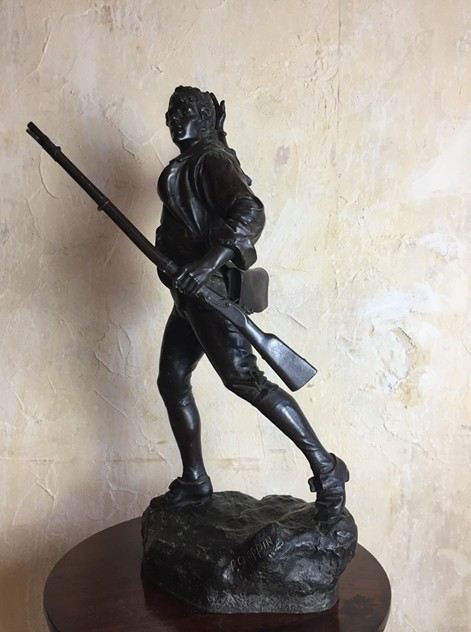 P Choppin, Bronze Revolutionary Figure-tigers-decorative-IMG_1965_main_636404892182422275.JPG
