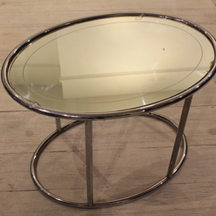 Chrome & Mirrored Coffee Table