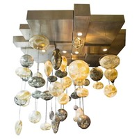 Bespoke Ken Gangbar 20th Century Glass Chandelier