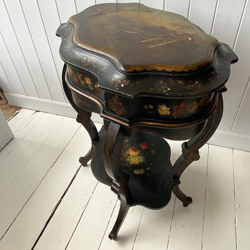 A Victorian Ebonised and Painted Sowing Table-tinker-toad-e4bdfc7c-32be-4a98-af5d-ad5c25103f41-main-637328531840661684.jpg