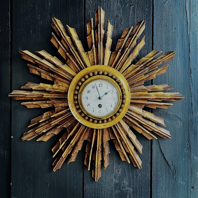 A French Giltwood Starburst Wall Clock Circa 1890-tinker-toad-fullsizeoutput-264d-main-637457950224323269.jpeg