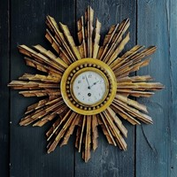 A French Giltwood Starburst Wall Clock Circa 1890